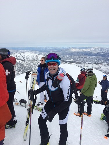 Power of Four 2015 Ski Mountaineering Race atop Highlands Bowl