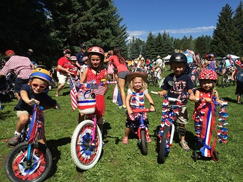 July Fourth Bike Decorating at Paepke Park in Aspen, Colorado