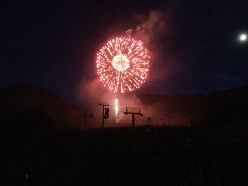Fourth of July Fireworks Spectacle in Aspen, Colorado