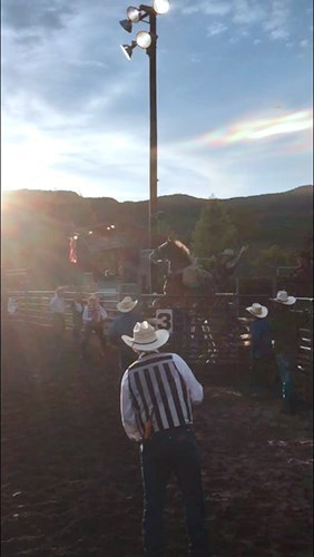 Bronc Rider Nile Thompson at the Snowmass Rodeo